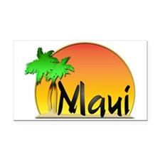 Maui Rectangle Car Magnet