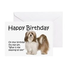 Funny Lhasa Apso Birthday Card