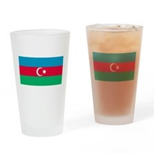 Azerbaijan Flag Drinking Glass