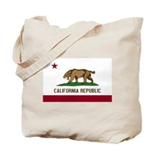 Smilodon California Flag Tote Bag