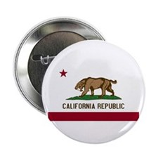 "Smilodon California Flag 2.25"" Button (100 pack)"