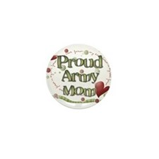 Proud Army Mom whimsy Mini Button