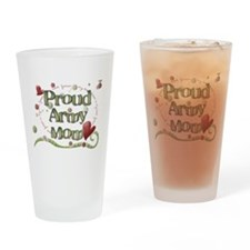 Proud Army Mom whimsy Drinking Glass