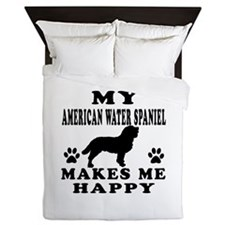 My American Water Spaniel makes me happy Queen Duv