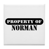 Property of Norman Tile Coaster