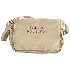 12 Steps. No Elevator. Messenger Bag
