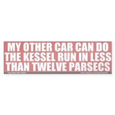 Less Than Twelve Parsecs Bumper Bumper Sticker