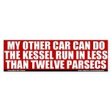 Less Than Twelve Parsecs Bumper Car Sticker