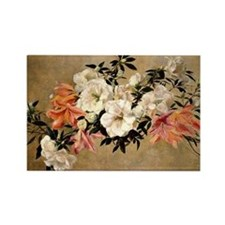 Petunias, floral painting by Henr Rectangle Magnet