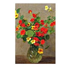 Nasturtiums, floral paint Postcards (Package of 8)