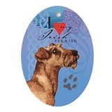 Irish Terrier Oval Ornament