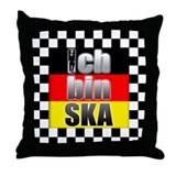 Ich bin SKA! Throw Pillow