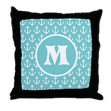 Anchor Monogram Personalized Throw Pillow