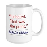 "Barack Obama Quote - ""I Inhaled"" Mug"