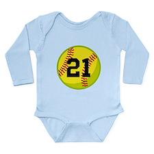 Softball Sports Personalized Long Sleeve Infant Bo
