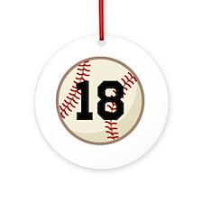 Baseball Sports Personalized Ornament (Round)