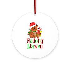 Nadolig Llawen Welsh Ornament (Round)