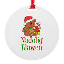 Nadolig Llawen Welsh Ornament