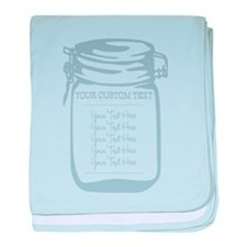Custom Text Canning Jar Graphic baby blanket