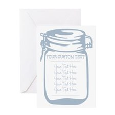 Custom Text Canning Jar Graphic Greeting Cards