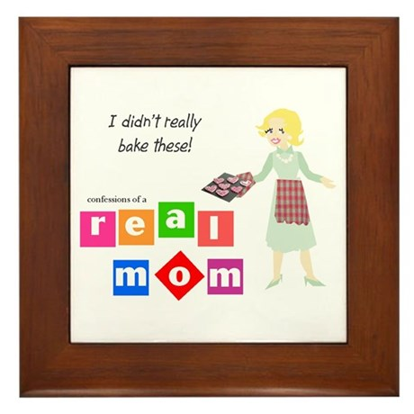 Mom Doesn't Bake Framed Tile