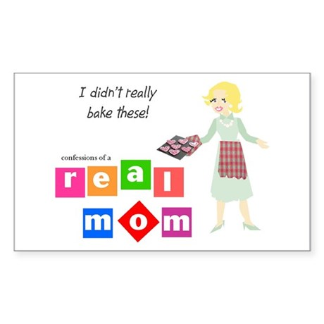 Mom Doesn't Bake Rectangle Sticker