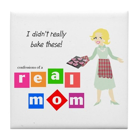 Mom Doesn't Bake Tile Coaster
