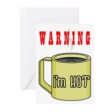 WARNING I'M HOT Greeting Cards (Pk of 10)