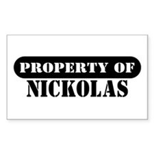 Property of Nickolas Rectangle Decal