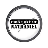 Property of Nathaniel Wall Clock