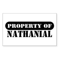Property of Nathanial Rectangle Decal
