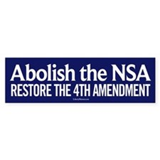 Abolish the NSA Bumper Bumper Sticker