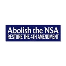 Abolish the NSA Car Magnet 10 x 3