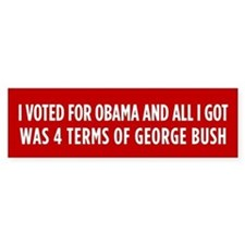 4 Terms Of Bush Bumper Sticker