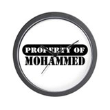 Property of Mohammed Wall Clock