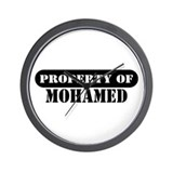 Property of Mohamed Wall Clock