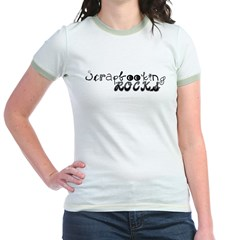 Scrapbooking Rocks Jr. Ringer T-Shirt