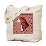 Beagle with pawprints Tote Bag