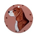 Beagle with pawprints Ornament (Round)