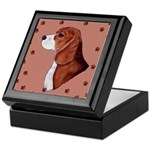 Beagle with pawprints Keepsake Box