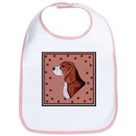 Beagle with pawprints Bib