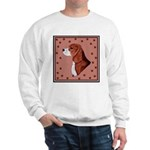 Beagle with pawprints Sweatshirt