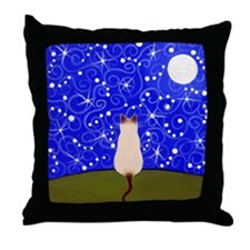 Siamese CAT Starry Night ART Pillow