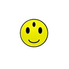 Enlightened Smiley Face Mini Button