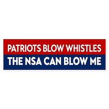 Patriots Blow Whistles Bumper Bumper Sticker