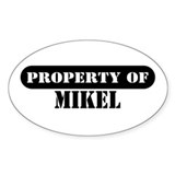 Property of Mikel Oval Decal