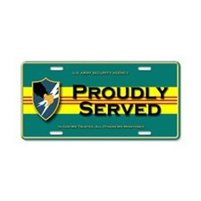 ASA RVN Proudly Served Aluminum License Plate