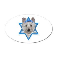 Hanukkah Star of David - Westie 20x12 Oval Wall De