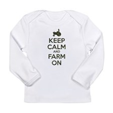 Camouflage Keep Calm and Farm On Long Sleeve T-Shi