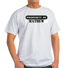 Property of Mathew Ash Grey T-Shirt